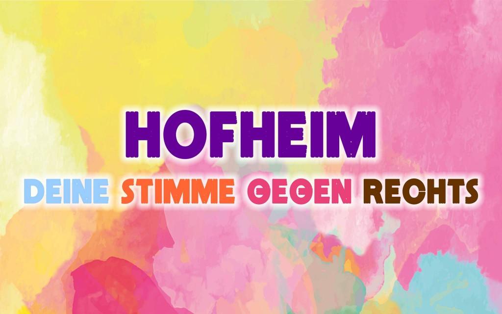 Hofheim gegen rechts